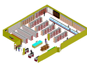 3D parduotuvių vizualizacija