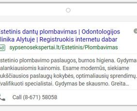 Pardavimų didinimas internetinės reklamos pagalba / Eglė Tertelė / Darbų pavyzdys ID 550019