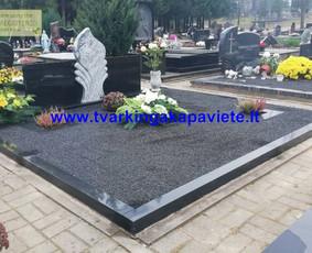 Kapo dengimas plokšte, paminklai kapams, kapų tvarkymas / TVARKINGA KAPAVIETĖ / Darbų pavyzdys ID 550207