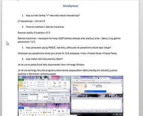 Parenku mokamąją medžiagą įvairių Excel funkcijų naudojimui.