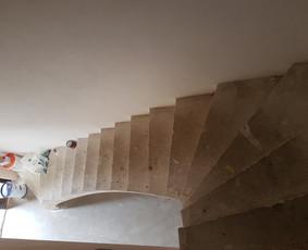 Betoniniai laiptai ir apdaila. Klinkerio klijavimas