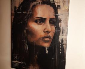 Danielė creator of art. Tapyba ant drobės.