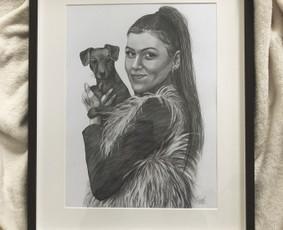 Piešiu portretus iš nuotraukų