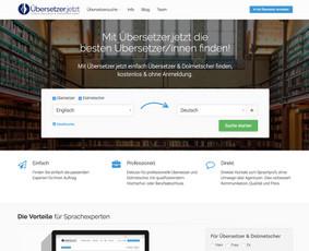 Vokiečių startuolio https://uebersetzer.jetzt kūrimas naudojant Wordpress.