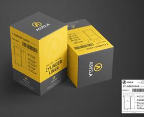 """UAB """"Asvela"""" produkto dėžutės dizainas bei informacinio lipduko apie produkta dizainas ir maketavimas."""