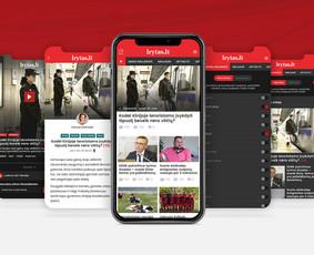 Naujienų portalo Lrytas.lt aplikacijos dizainas