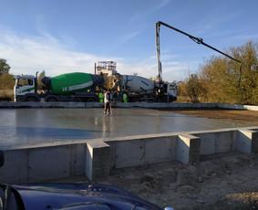Pramoninių grindų betonavimas