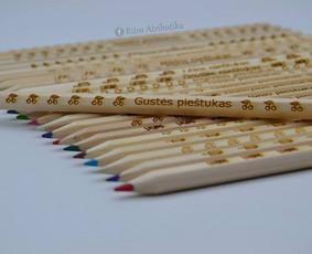 Graviruoti pieštukai, Pieštukai tekstu, vardu, palinkėjimu.