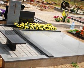 Paminklai, plokštės, trinkelės, kapų tvarkymas