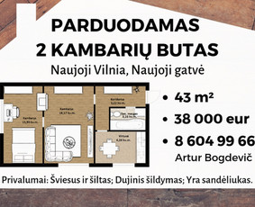 Sertifikuotas nekilnojamojo turto brokeris Vilniuje / Artur Bogdevič / Darbų pavyzdys ID 608741