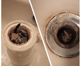 Užsikišusio vonios sifono atkimšimas/išvalymas