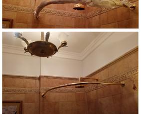 Auksinių vonios aksesuarų montavimas