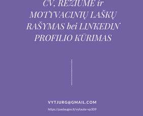 CV (gyvenimo aprašymų),LinkedIn ir motyvacinių laiškų kūrėja