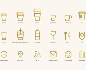 """Kavinės """"Manu Labu"""" ikonų dizainas"""