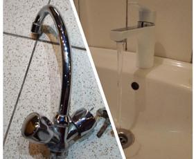 Vandens čiaupo keitimas į saugesnį ir modernesnį, patogesnį.