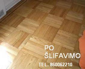 Slifavimas,atnaujinimas mediniu grindu,parketo