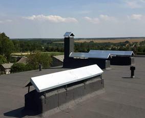 Stogų dengimo darbai su prilydoma stogų dangą