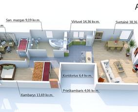 3D planai geresnei parduodamo turto reklamai