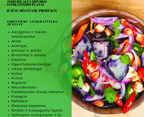 Mitybos planai ir konsultacijos kiekvienai sveikatos būklei
