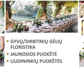 Balta Karūna - vestuvių floristika,dekoravimas,koordinavimas / Balta Karūna / Darbų pavyzdys ID 675227