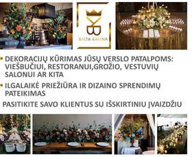 Balta Karūna - vestuvių floristika,dekoravimas,koordinavimas / Balta Karūna / Darbų pavyzdys ID 675229
