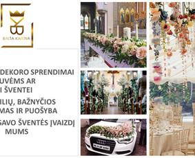 Balta Karūna - vestuvių floristika,dekoravimas,koordinavimas / Balta Karūna / Darbų pavyzdys ID 675231