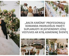 Balta Karūna - vestuvių floristika,dekoravimas,koordinavimas / Balta Karūna / Darbų pavyzdys ID 675233