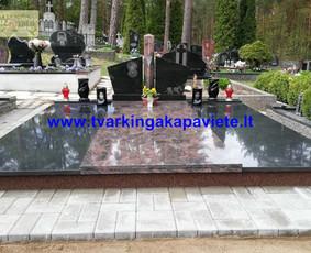 Kapų tvarkymas, paminklų gamyba, granito plokštės kapams