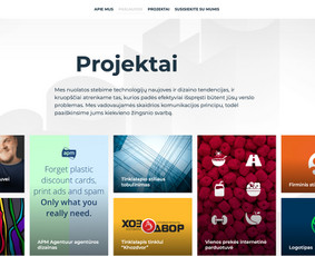 Tinklalapių kūrimo, dizaino ir komunikacijos paslaugos