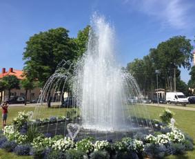 Mobilaus šokančio fontano nuoma