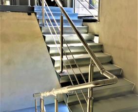 Metalinių laiptų projektavimas, gamyba ir montavimas.