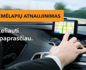 Žemėlapių atnaujinimas. Prekiaujame GPS navigatoriais.