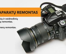 Fotoaparatų ir vaizdo kamerų remontas.