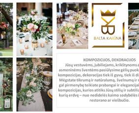 Balta Karūna - vestuvių floristika,dekoravimas,koordinavimas / Balta Karūna / Darbų pavyzdys ID 700039