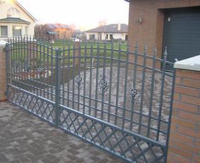 Tvoros, kiemo vartai, montavimas, kalvystės elementai. / UAB Metalo spektras / Darbų pavyzdys ID 700235