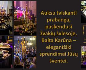 Balta Karūna - vestuvių floristika,dekoravimas,koordinavimas / Balta Karūna / Darbų pavyzdys ID 700583