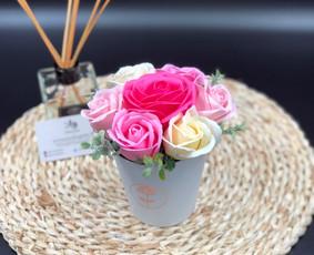 Muilo Gėlių kompozicijos Gėlės pagamintos iš muilo / Muilo Gėlės / Darbų pavyzdys ID 705155