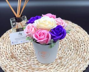 Muilo Gėlių kompozicijos Gėlės pagamintos iš muilo / Muilo Gėlės / Darbų pavyzdys ID 705163