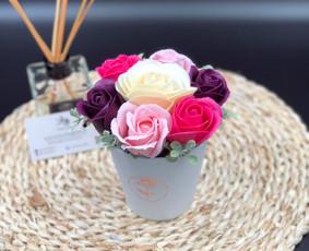 Muilo Gėlių kompozicijos Gėlės pagamintos iš muilo / Muilo Gėlės / Darbų pavyzdys ID 705169