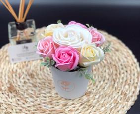 Muilo Gėlių kompozicijos Gėlės pagamintos iš muilo / Muilo Gėlės / Darbų pavyzdys ID 705193