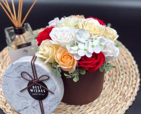 Muilo Gėlių kompozicijos Gėlės pagamintos iš muilo / Muilo Gėlės / Darbų pavyzdys ID 705223