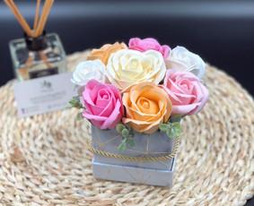 Muilo Gėlių kompozicijos Gėlės pagamintos iš muilo / Muilo Gėlės / Darbų pavyzdys ID 705273