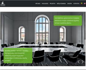 Svetainė suprogramuota ant Wordpress platformos pagal kliento dizainą