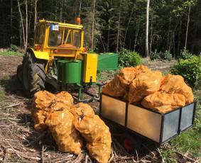 Šakų kapoklės-smulkintuvo su traktoriumi nuoma