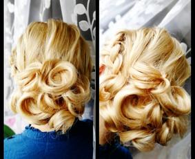 Makiažas+šukuosena
