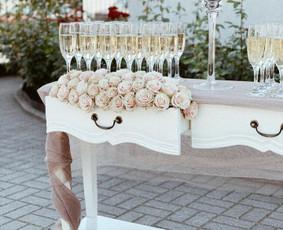 Vaišių staliukas po ceremonijos