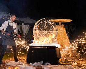 Ledo skulptūrų ir ugnies šou LEDO ŠOU
