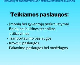 PERKRAUSTYMO PASLAUGOS - KROVINIŲ PERVEŽIMAS
