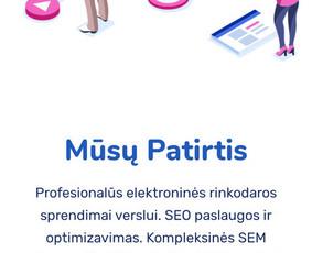 SEO, SEM, Socialinių Tinklų Administravimas, Google Ads