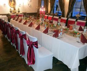 Lempučių, tekstilės nuoma, šampano staliukai
